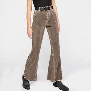 NWOT Free People Brown Rugged Cord Flares